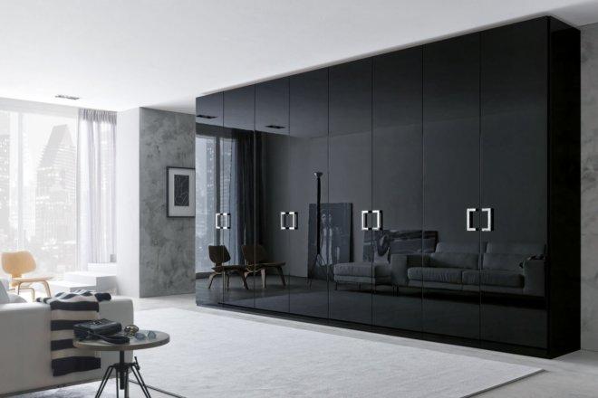 Modern Black Shine Wardrobe Design