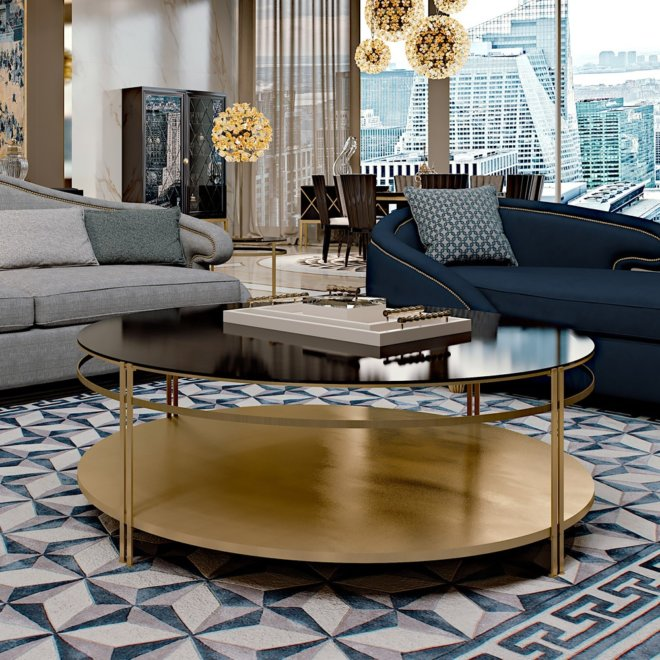 Contemporary Italian Round Coffee Table 1