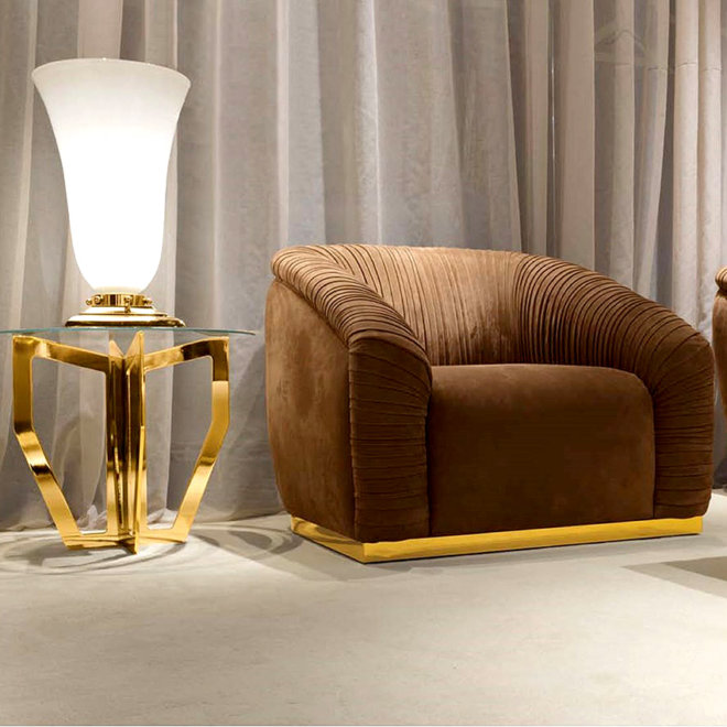 armchair gold m